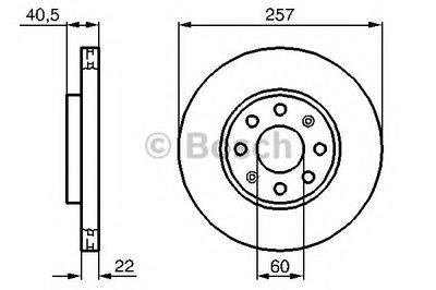 """Гальмівний диск FIAT/OPEL Punto/CorsaD F """"06>>"""