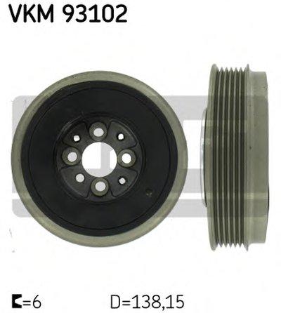 Фотография Ременный шкив, коленчатый вал SKF VKM93102