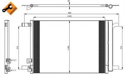 Радиатор кондиционера EASY FIT NRF 35968 для авто AUDI, SEAT, SKODA, VW с доставкой