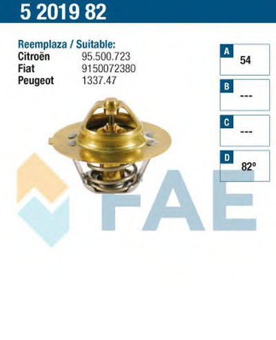 Термостат, охлаждающая жидкость FAE купить