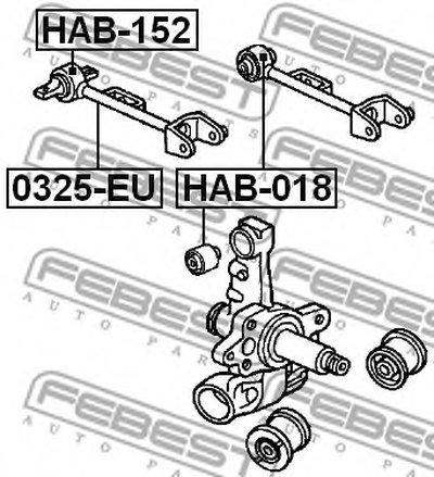 Сайлентблок рычага зад. подвески верх. FEBEST HAB152-1