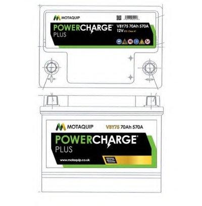 Стартерная аккумуляторная батарея Powercharge Plus MOTAQUIP купить