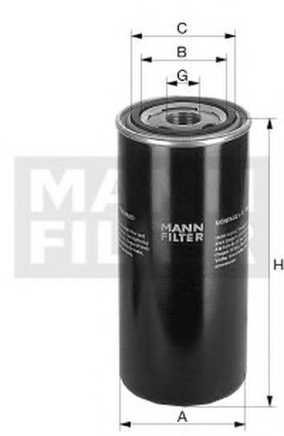 WD950 MANN-FILTER Фильтр, Гидравлическая система привода рабочего оборудования