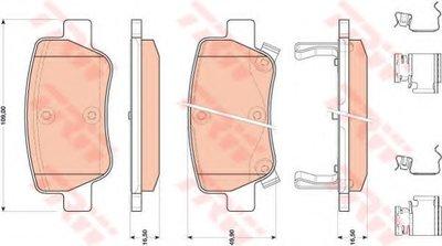 """Гальмівні колодки дискові TOYOTA Avensis """"R """"09>>"""