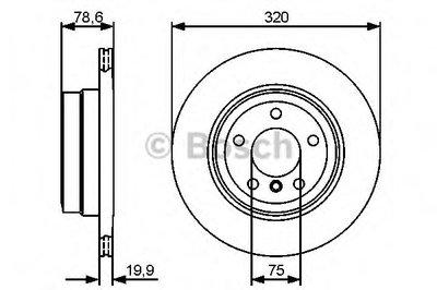 Гальмівний диск BMW X5,X6 3,0-3,5 07- R