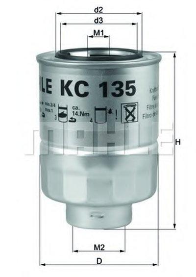 KC135D MAHLE ORIGINAL Топливный фильтр