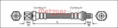 4114730 METZGER Тормозной шланг