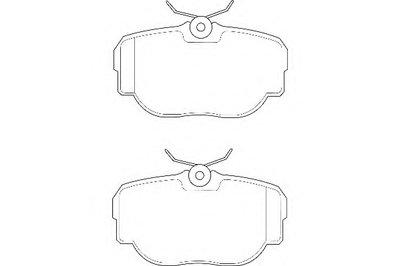 Комплект тормозных колодок, дисковый тормоз DURON купить