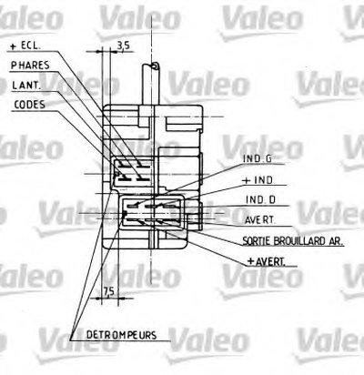 Выключатель на колонке рулевого управления VALEO купить