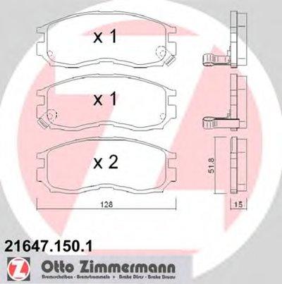 Колодки Тормозные Дисковые Hyundaimitsubishi ZIMMERMANN 216471501 для авто MITSUBISHI, PROTON с доставкой