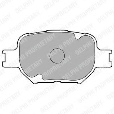 Lp1804_!колодки Дисковые П. Toyota Corolla 2.0Dcorolla Verso 1.82.0D 02 DELPHI LP1804 для авто TOYOTA с доставкой