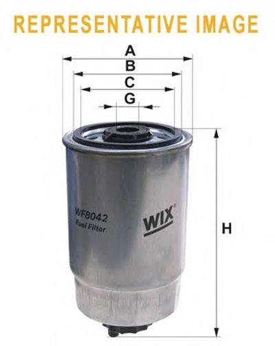 WF8042 WIX FILTERS Топливный фильтр