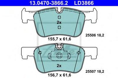 Комплект тормозных колодок, дисковый тормоз ATE Ceramic ATE купить