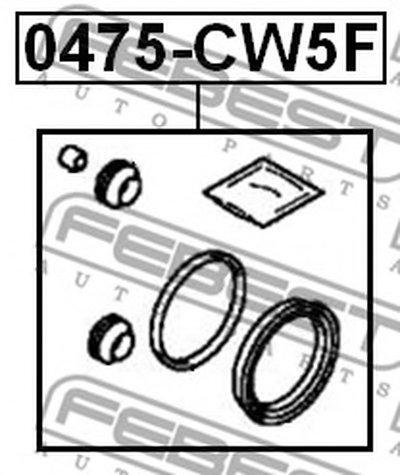 0475CW5F FEBEST Ремкомплект, тормозной суппорт -1