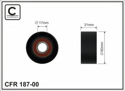 60x17x31 Ролик натяжний паска поліклинового Nissan/Renault 2.2dCi-2.5dCi 09.00- CAFFARO 18700 для авто OPEL, RENAULT с доставкой
