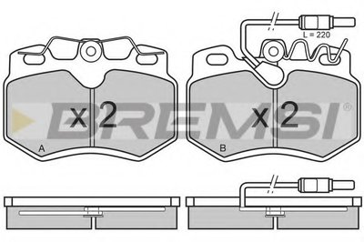 Комплект тормозных колодок, дисковый тормоз BREMSI купить
