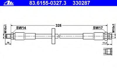 83615503273 ATE Тормозной шланг