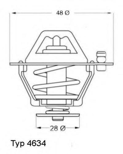 463476 WAHLER Термостат, охлаждающая жидкость