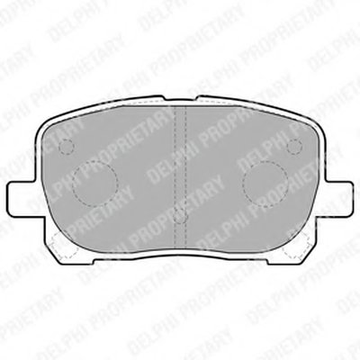 """Гальмівні колодки дискові TOYOTA Avensis Verso """"F """"01-05"""