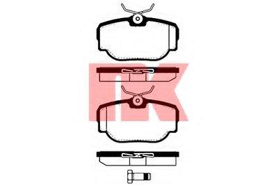 Комплект тормозных колодок, дисковый тормоз NK купить