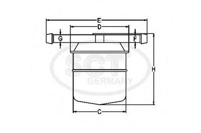 ST336 SCT GERMANY Топливный фильтр-2