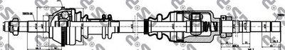 Приводной Вал Прав Citr Jumperfi Ducatopeu Boxer 1.9D-2.8Td 94-02 Abs GSP 210104 для авто CITROËN, FIAT, PEUGEOT с доставкой