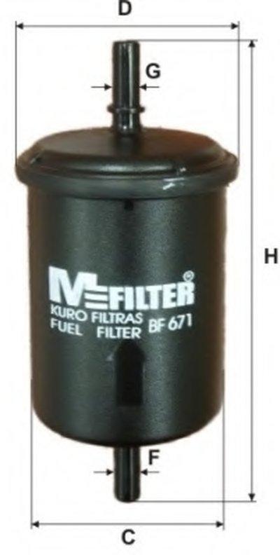 BF671 MFILTER Топливный фильтр