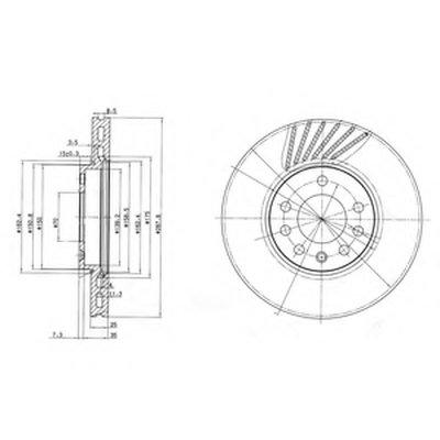 Диск Тормозной DELPHI BG3142 для авто OPEL, SAAB с доставкой