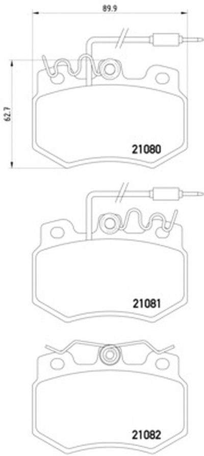 Комплект тормозных колодок, дисковый тормоз MINTEX купить