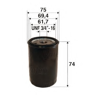 586077 VALEO Масляный фильтр