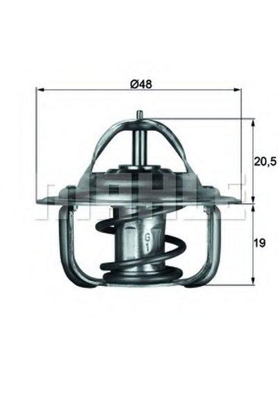 TX192D BEHR Термостат, охлаждающая жидкость