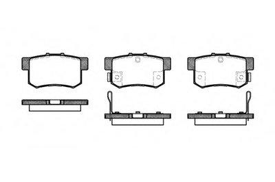 Колодка торм. HONDA CIVIC VI (02/01-12/05) задн. (пр-во REMSA)