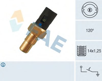 термовыключатель, сигнальная лампа охлаждающей жидкости FAE 35750 для авто RENAULT с доставкой