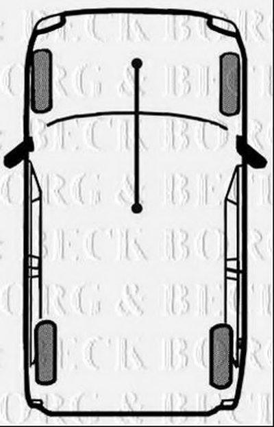 Трос, стояночная тормозная система BORG & BECK купить