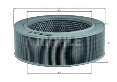 LX284 KNECHT Воздушный фильтр