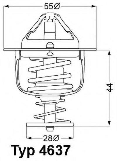 463782D WAHLER Термостат, охлаждающая жидкость