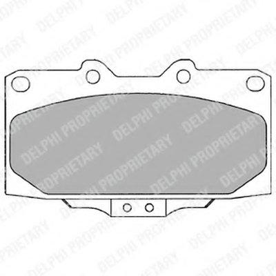 Lp1020_!колодки Дисковые П. Subaru Impreza 1.62.0I 00 DELPHI LP1020 для авто NISSAN с доставкой