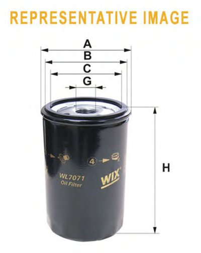 WL7083 WIX FILTERS Масляный фильтр