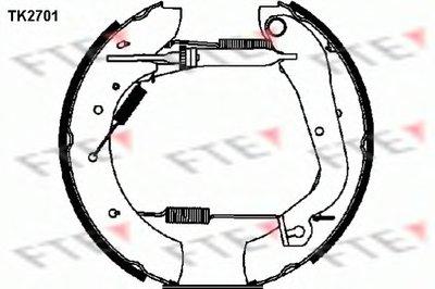 Комплект тормозных колодок FTE купить