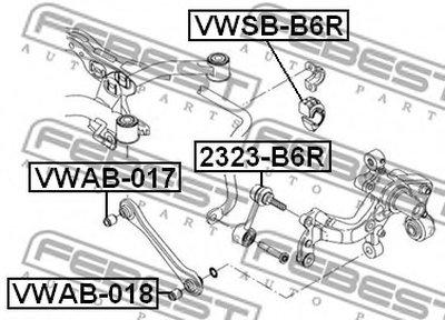 Втулка стабілізатора FEBEST VWSBB6R