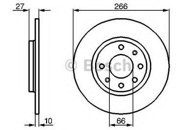 0986478090 BOSCH Тормозной диск
