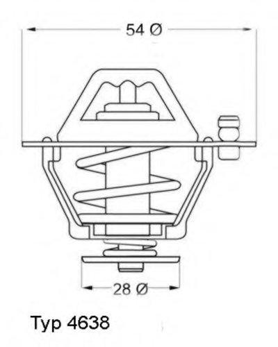 463882D WAHLER Термостат, охлаждающая жидкость