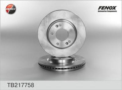 Диск тормозной передний FENOX TB217758