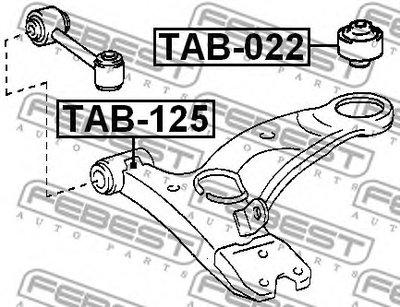 Сайлентблок переднего рычага передний AVENSIS 97-03 FEBEST TAB125