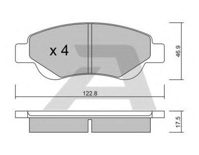 Комплект тормозных колодок, дисковый тормоз AISIN купить