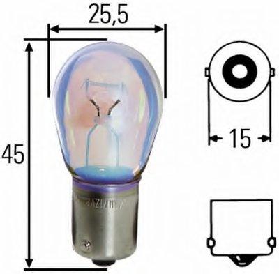 Лампа накаливания, фонарь указателя поворота; Лампа накаливания, фонарь сигнала тормож./ задний габ. огонь; Лампа накаливания, фонарь сигнала торможения; Лампа накаливания, фонарь освещения номерного знака; Лампа накаливания, задняя противотуманная фара; Лампа накаливания, фара заднего хода; Лампа накаливания, задний гарабитный огонь; Лампа накалив HELLA купить