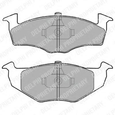 Колодки Тормозные Дисковые, Комплект DELPHI LP1601 для авто SEAT, SKODA, VW с доставкой
