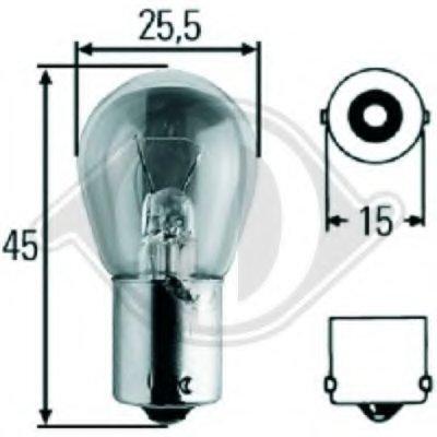 Лампа накаливания, фонарь указателя поворота; Лампа накаливания, фонарь сигнала торможения; Лампа накаливания, фонарь освещения номерного знака; Лампа накаливания, задняя противотуманная фара; Лампа накаливания, фара заднего хода; Лампа накаливания, стояночные огни / габаритные фонари; Лампа накаливания; Лампа накаливания, фонарь указателя поворота HD Tuning DIEDERICHS купить