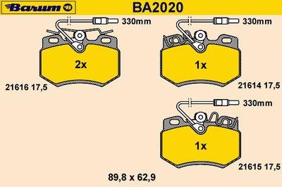 Комплект тормозных колодок, дисковый тормоз BARUM купить