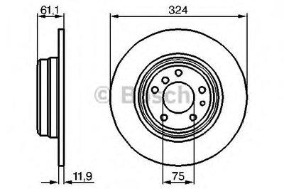 Гальмівний диск BMW E38 R